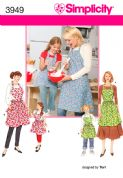 3949 Simplicity Pattern: Aprons